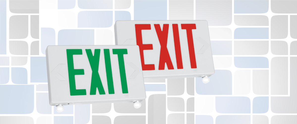 Exit and Emergency Combo Banner