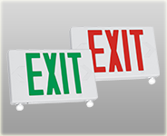 Energy Efficient LED Exit Emergency Combo Sign